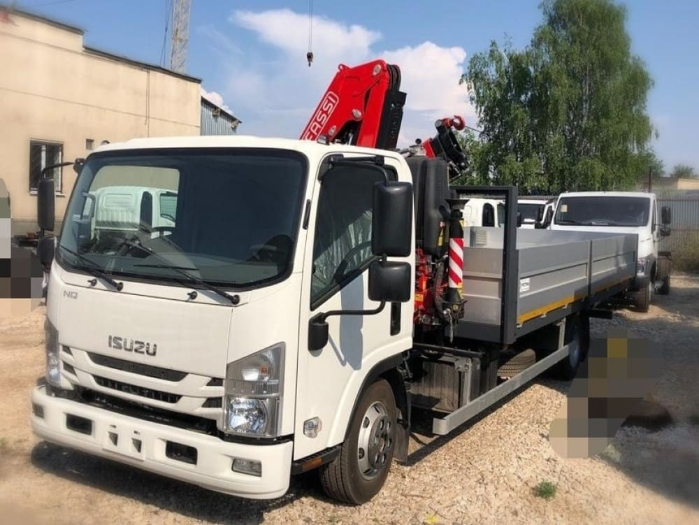 ISUZU ELF 9.5 EXTRALONG A/C с КМУ Fassi F85B.0.22