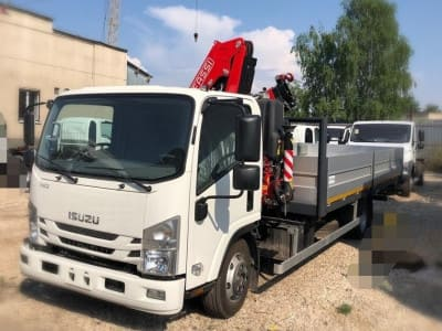 ISUZU ELF 9.5 EXTRALONG A/C с КМУ Fassi F85B.0.22 в наличии